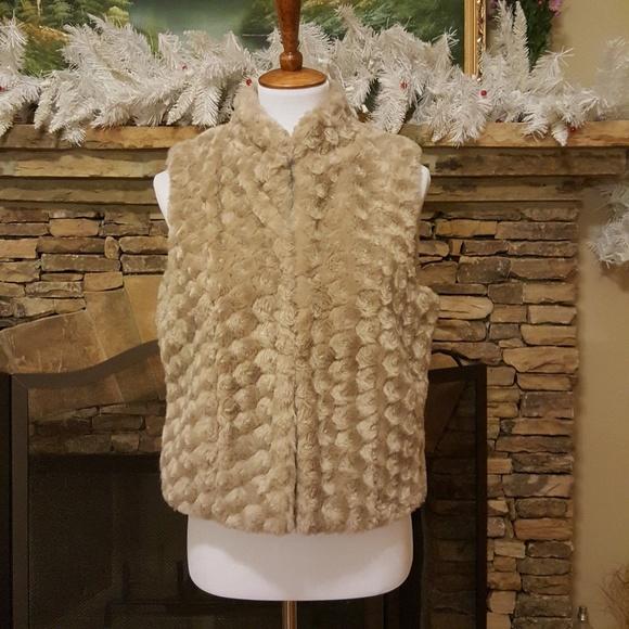 Elle Jackets & Blazers - ELLE Tan Brown Textured Vest